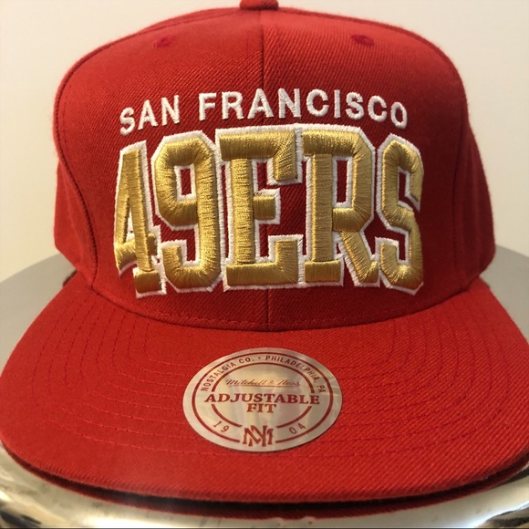 84bed729 Mitchell & Ness Accessories   San Francisco 49ers Arch Snapback ...